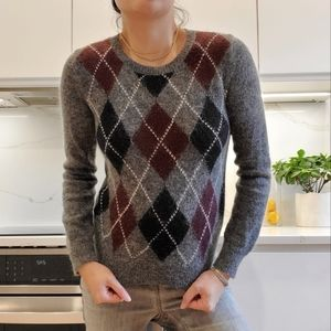 UNIQLO × Ines De La Fressange chunky mohair crewneck sweater